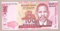 Банкнота Малави 100 квача 2012 г. UNC