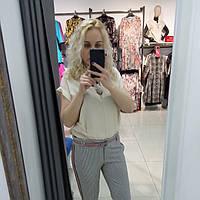 Летняя женская блуза короткий рукав