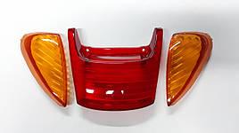 Скло стоп-сигналу і поворотів HONDA DIO AF-34/35 (червоне+жовті)