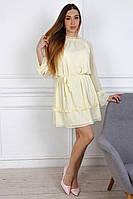 Легкое желтое молодежное платье