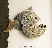 Деревянная рыбка пиранья, фото 1