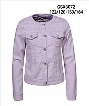 Куртка  из кожзаменителя для девочек оптом, размеры 122/128-158/164, Glo-Story, арт. GSX-8072