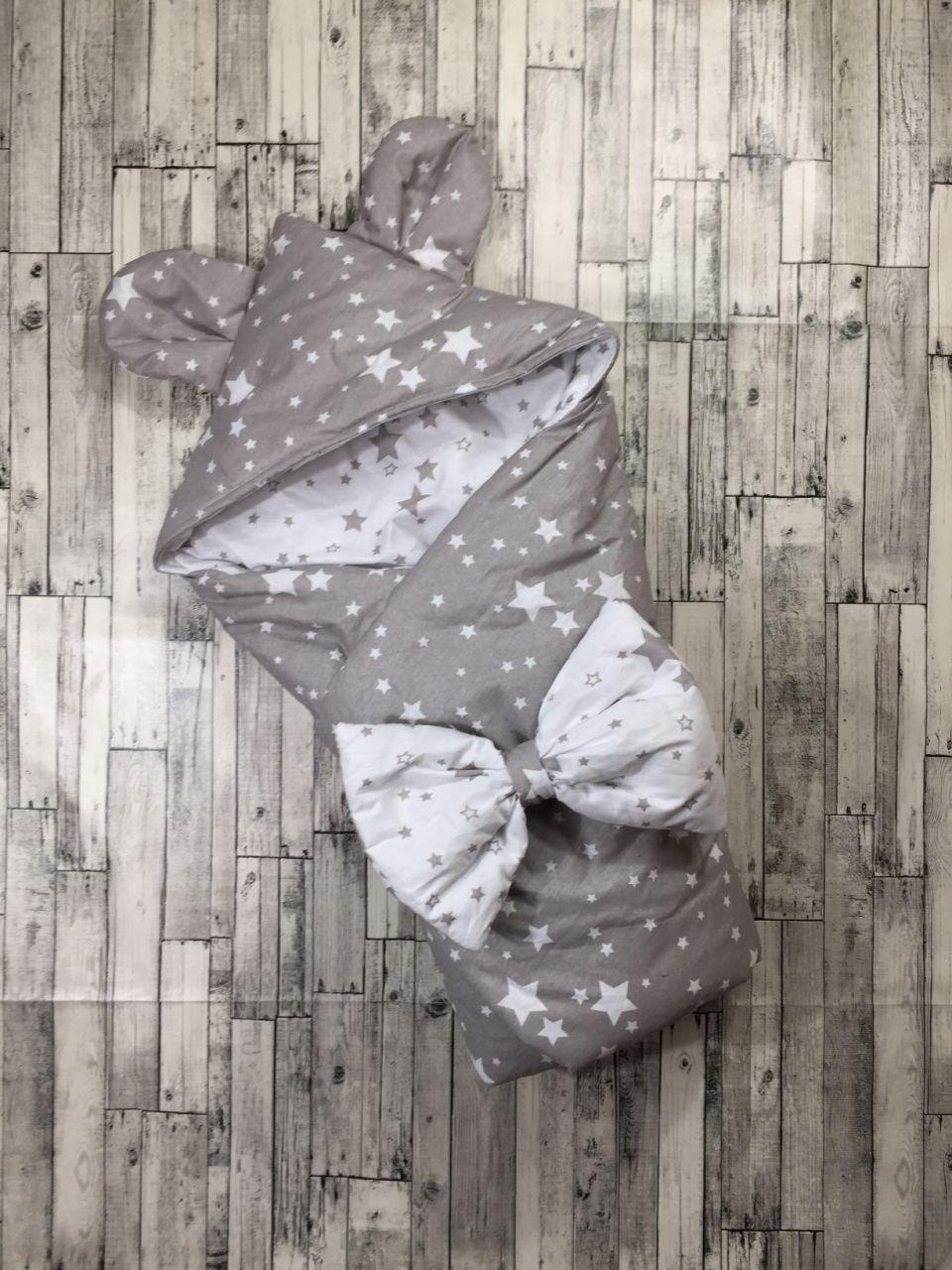 Конверт-одеяло с капюшоном на выписку