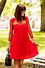 S, M, L / Вечернее изысканное платье-трапеция Rina, красный, фото 6