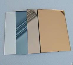 Полистирол HIPS 1 мм, зеркальное золото, лист 1000х2000 мм