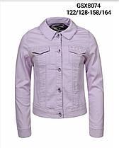 Куртка  из кожзаменителя для девочек оптом, размеры 122/128-158/164, Glo-Story, арт. GSX-8074