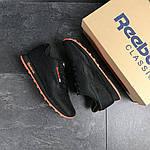 Мужские кроссовки Reebok (черно-оранжевые), фото 2