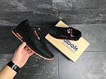 Мужские кроссовки Reebok (черно-оранжевые), фото 3