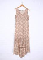 Платье на молнии бежевое  Maggy London