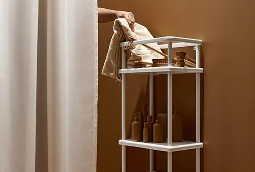 Шкафы, стеллажы, скамьи в ванную IKEA