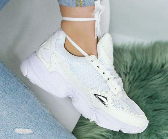3df1472b Женские кроссовки Adidas Falcon Crystal White (адидас фалькон кристал,  белые)