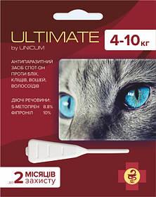 Ultimate (Ультимейт) капли от блох, клещей, вшей и власоедов для котов весом 4-10 кг