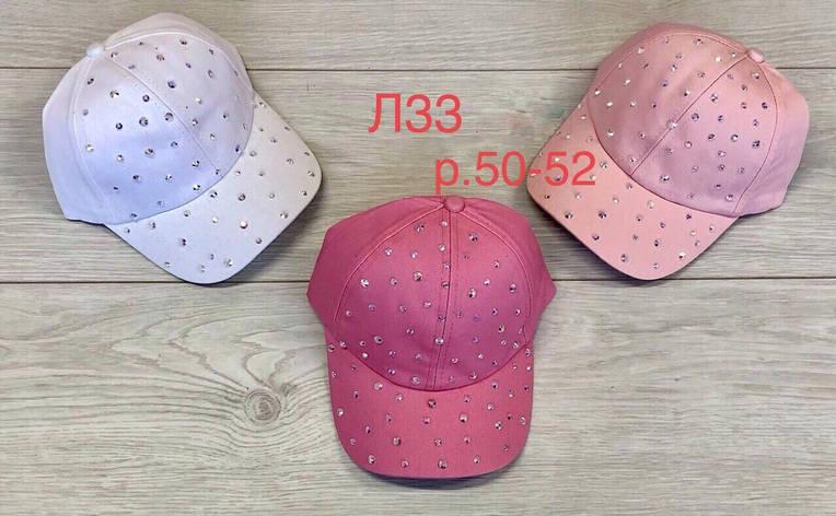 Летняя кепка для девочки в стразах р.50-52, фото 2