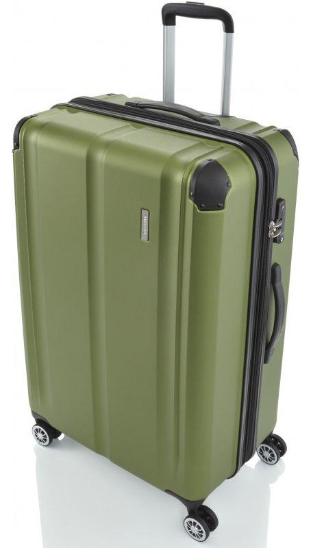 Гигантский пластиковый чемодан Travelite City TL073049-80 113 л, зеленый