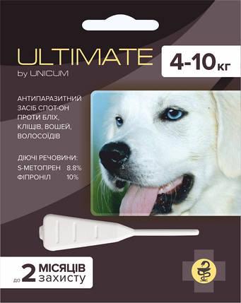 Ultimate (Ультимейт) капли от блох, клещей, вшей и власоедов для собак весом 4-10 кг, фото 2