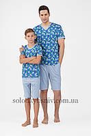 Піжама чоловіча ELLEN шорти+футболка Ананаси Ч-036/001