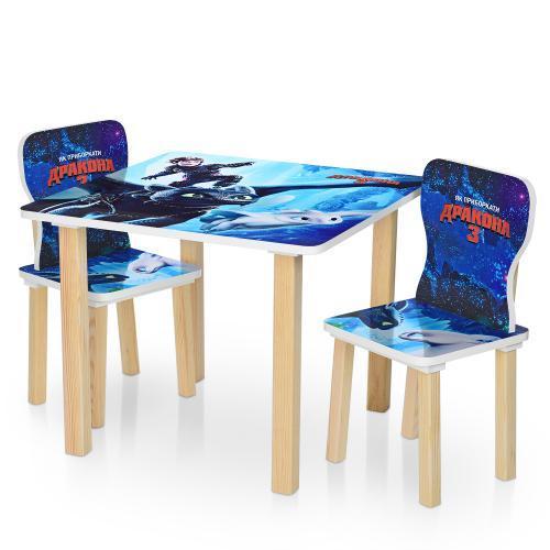 Столик детский со стульчиками 506-67 Как приручить дракона 3