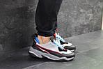 Мужские кроссовки Puma (серо-черные с синим) , фото 3