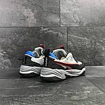 Мужские кроссовки Puma (серо-черные с синим) , фото 4