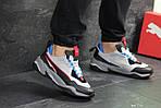 Чоловічі кросівки Puma (сіро-чорні з синім), фото 6