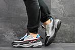 Чоловічі кросівки Puma (сіро-чорні з синім), фото 5