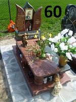 Дитячий пам'ятник комптекс із граніту лізник та кольорова фото на могилу