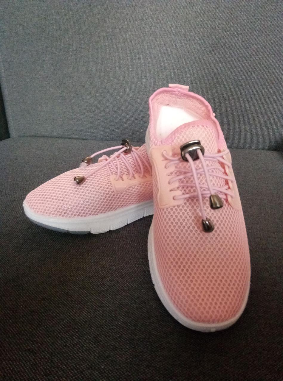 ✅ Оригинальные кроссовки с сеткой летние персиковые Wei Wei (35-40р) 36