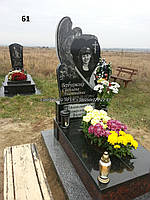 Дитячий ексклюзивний пам'ятник з ангелом із граніту на могилу комплект
