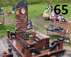 Дитячий ексклюзивний комплект пам'ятник з огорожею із граніту на могилу