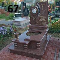 Дитячий пам'ятник ексклюзивний комплекс  із черного граніту лізник на могилу