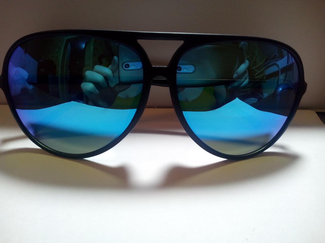 Солнцезащитные очки женские гранды зеркальные синий хамелеон