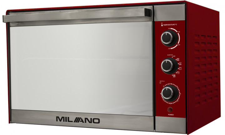 Духовка электрическая  MILANO MO-48 Red (48 литров,конвекция, гриль, вертел, подсветка)