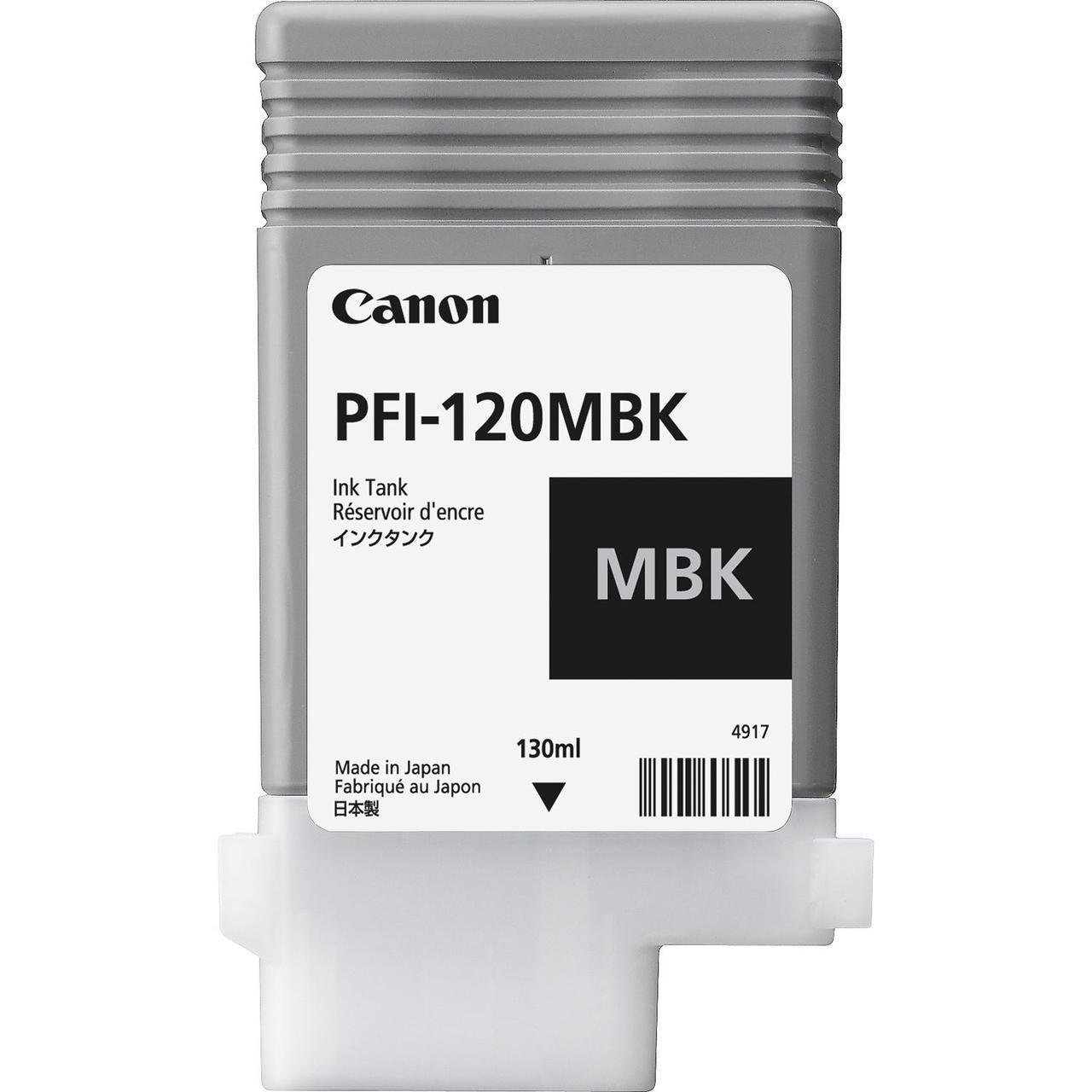 Картридж Canon PFI-120MBK для TM-200/300, Matte Black, 130 мл
