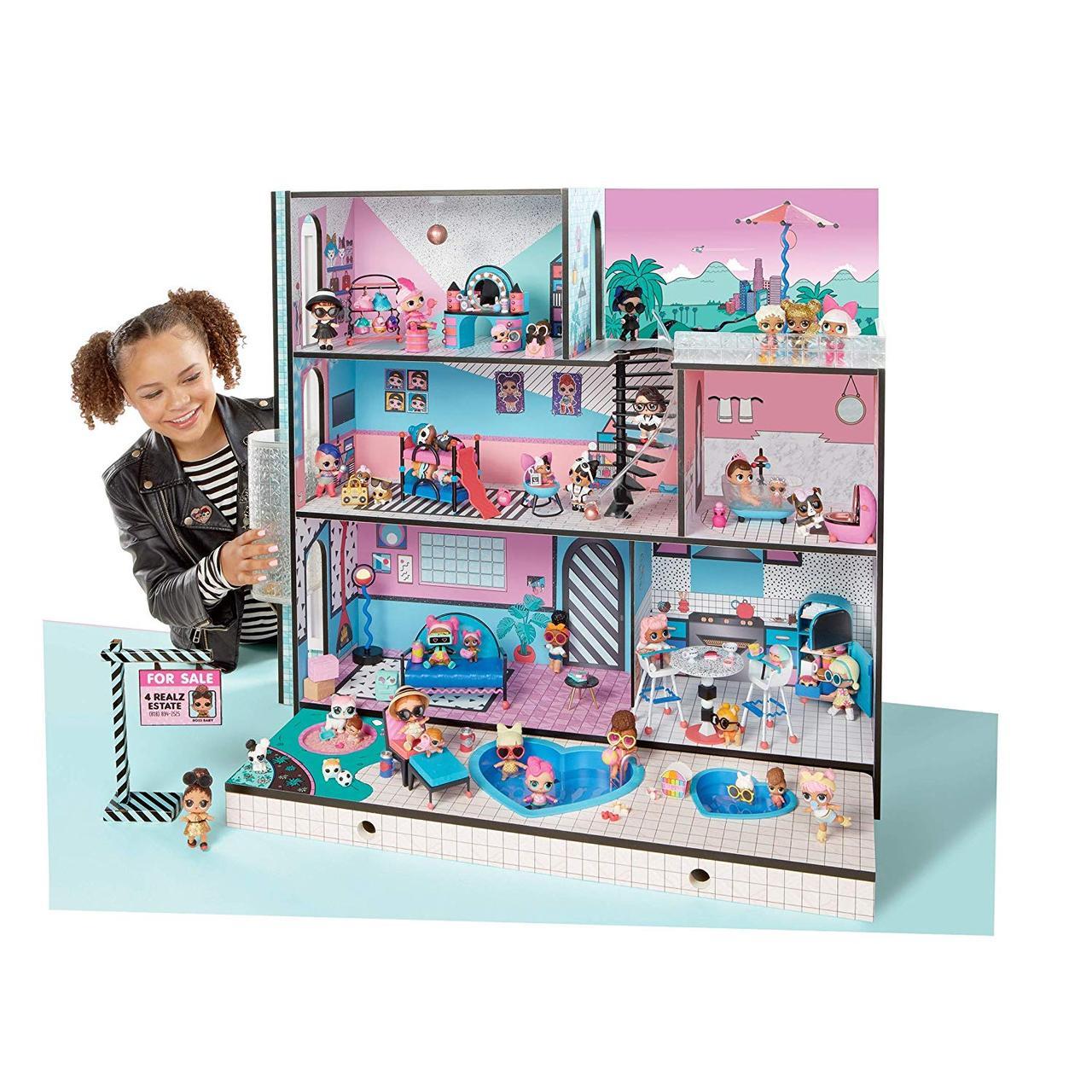 Кукольный домик L.O.L. Surprise House Меганабор ЛОЛ Модный особняк (555001)