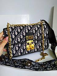 Женская сумка в стиле Dior  материал текстиль жаккардовая ткань