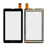 Сенсорный экран Nomi C07008 Sigma черный (30 pin), HS1275 V106/FM707101KD/370-A/YLD-CEG7069-FPC-AO/MDJ M706 FPC (тачскрин, стекло в сборе), Сенсорний