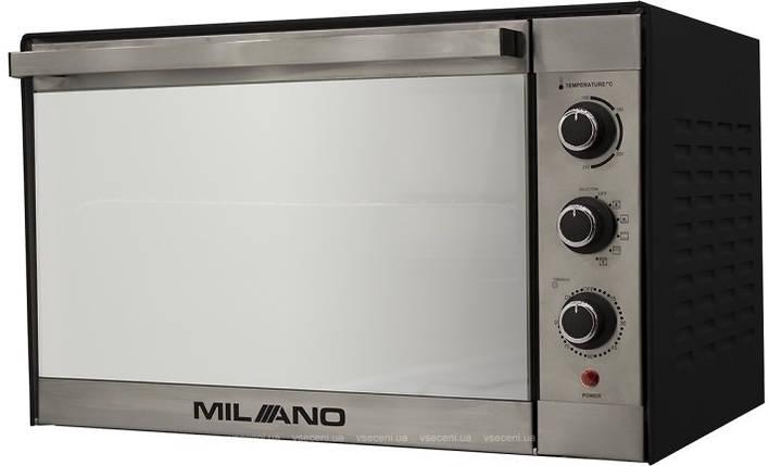 Духовка электрическая  MILANO MO-48 Silver (48 литров,конвекция, гриль, вертел, подсветка), фото 2