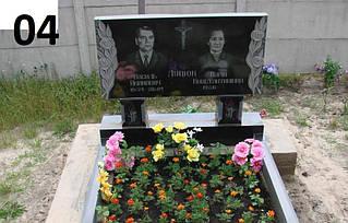 Двойной памятник для родителей на могилу из гранита