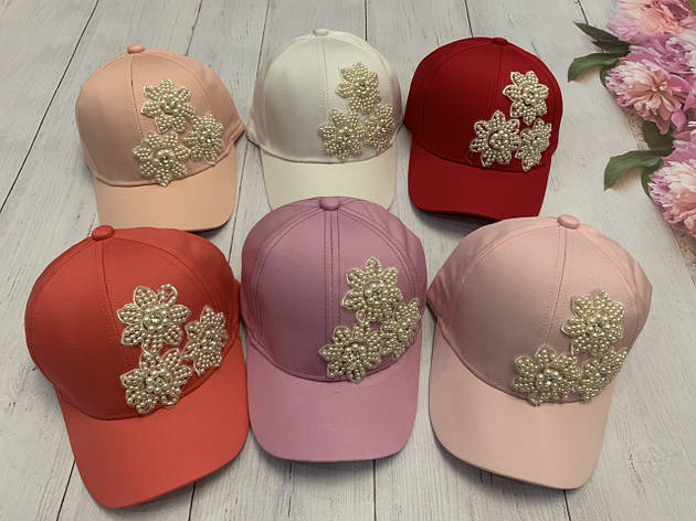 Летняя кепка для девочки Цветок в камнях р.54-55, фото 2