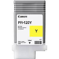 Картридж Canon PFI-120Y для TM-200/300, Yellow, 130 мл