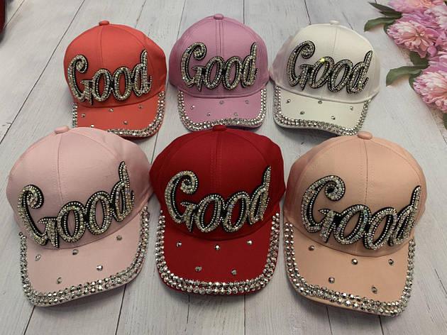 Летняя кепка для девочки Good в камнях р.54-55, фото 2