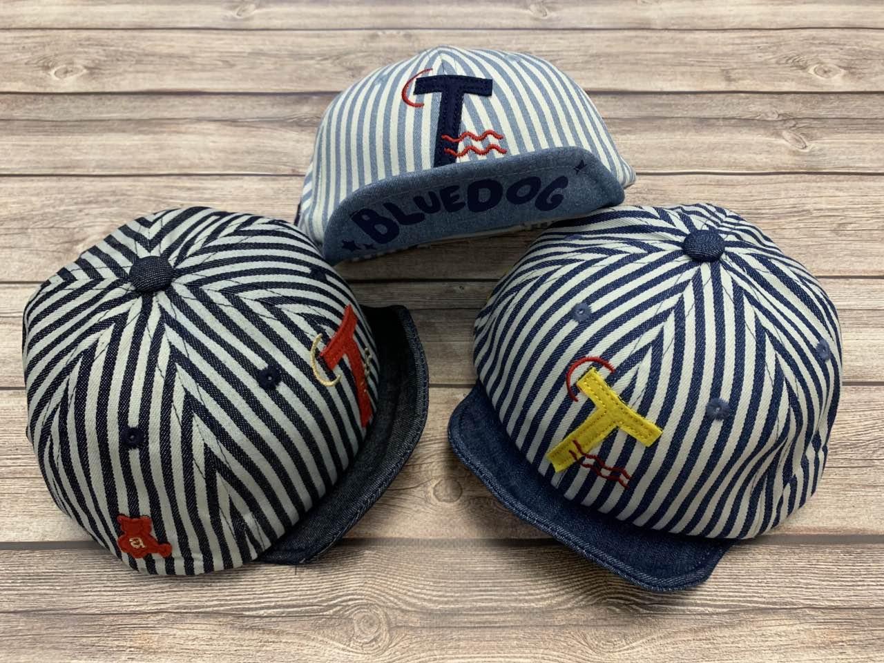Летняя кепка для мальчика в полоску с мягким козыркем  р.48-50