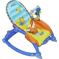 Кресло-качалка детский,музыкальный. Качалка для ребёнка Joy Toy 7179 (синий)