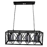"""Люстра потолочная подвесная в стиле """"LOFT"""" (лофт) (40х25х63 см.) Черный матовый YR-11535/4"""
