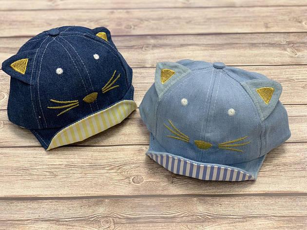 Летняя кепка для мальчика Кот с мягким козыркем  р.48-50, фото 2