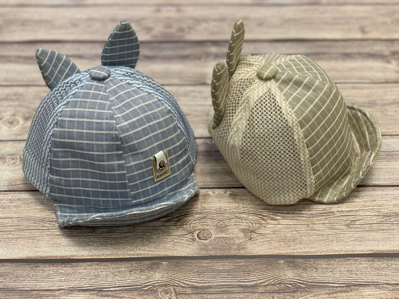 Летняя кепка для мальчика с ушками и мягким козыркем  р.48-50