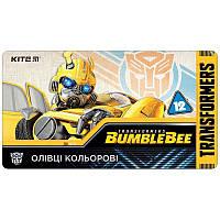 Олівці кольорові тригранні Kite Transformers BumbleBee Movie TF19-058
