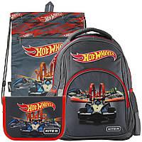 Рюкзак в комплекте 3 в 1 Hot Wheels KITE HW19-513S+601M-1+621-1