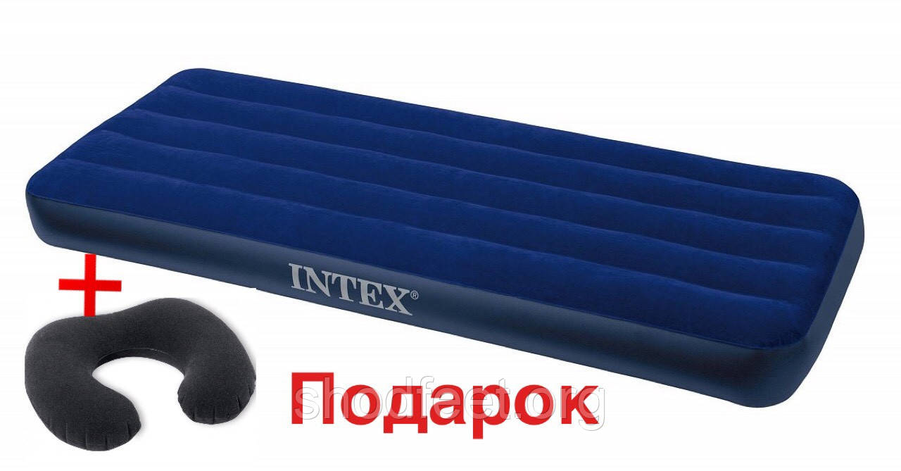 Надувной матрас INTEX 68950 Blue 76х191х22