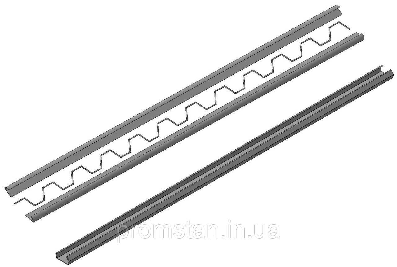 Профиль для крепления пленки в теплице 0,5 мм